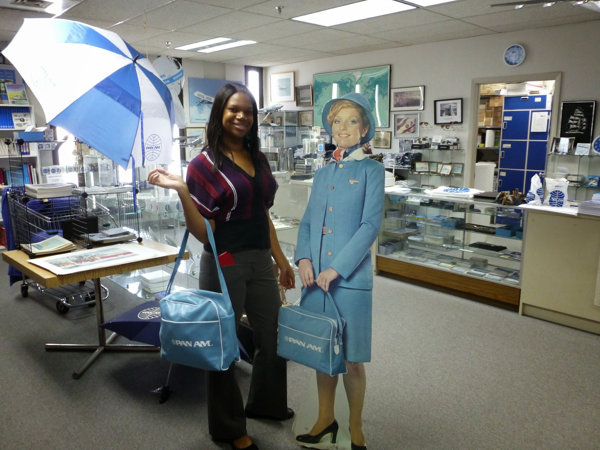 After receiving her award, Hadassah had the opportunity to check out the store at the Pan Am International Flight Academy